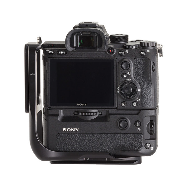 Plate for Sony Alpha a7RIII with battery grip seen on camera back view