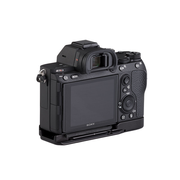 BA9 base plate on Sony A7R III - back view