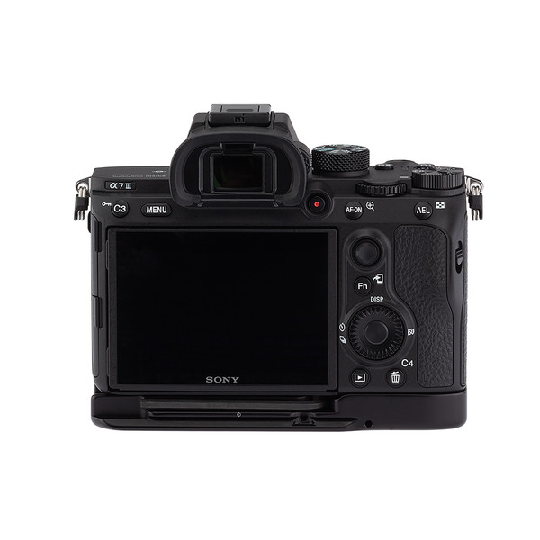 Base plate on Sony A7 III - back view