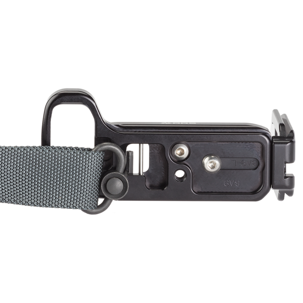 Alpha a9 plate with L-component attached to QD strap
