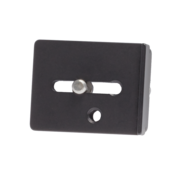 """This quick release plate utilizes a custom machined 1/4""""-20 threaded, captive-style mounting screw that threads into the tripod mounting socket of your camera body or lens foot."""