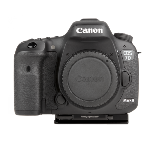 Plate for Canon 7D Mark II seen on camera front view