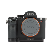 Sony Alpha a7 II/A7R II/A7S II base plate seen on camera