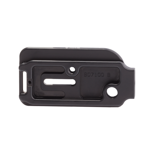 Base plate with QD attachment for Nikon camera.