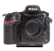 Plate for Nikon D800/D800E seen on camera front view