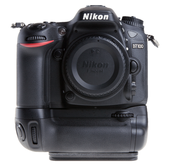 Plate for Nikon MB-D15 battery grip seen on camera front view