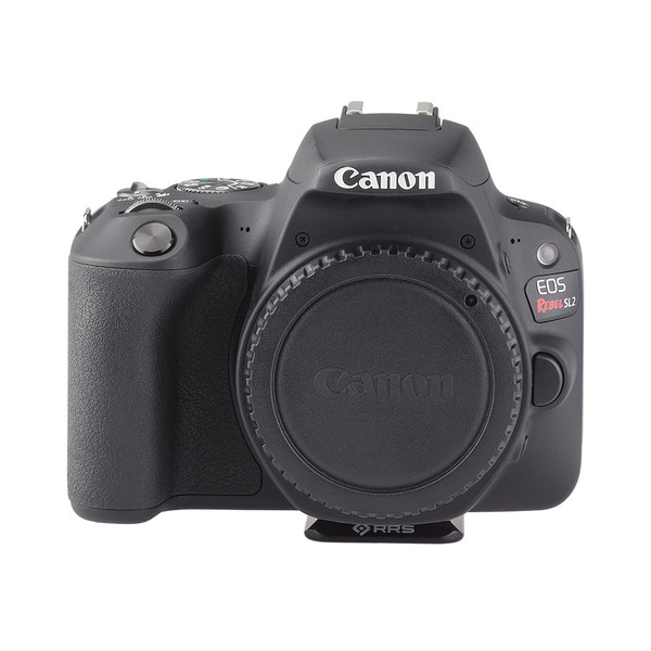 BPnS Camera Body Plate for Canon EOS Rebel SL2/EOS 200D seen on camera front view
