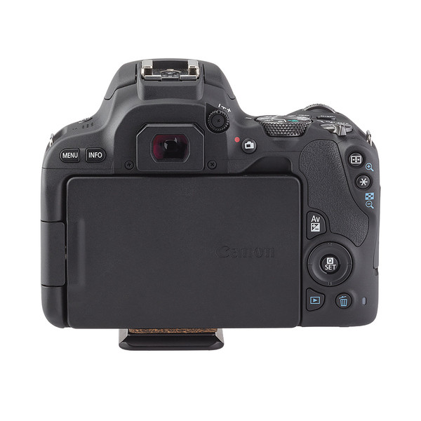 BPnS Camera Body Plate for Canon EOS Rebel SL2/EOS 200D seen on camera back view