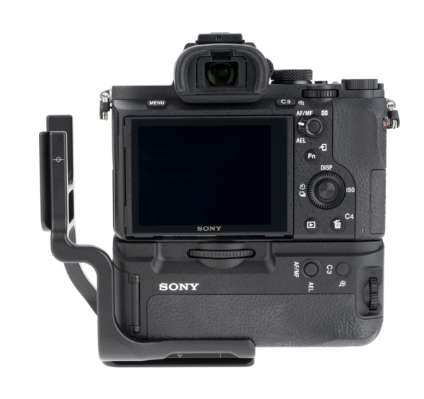 Vertical L component of BVGC2EM attached to maximize accessibility to camera side ports