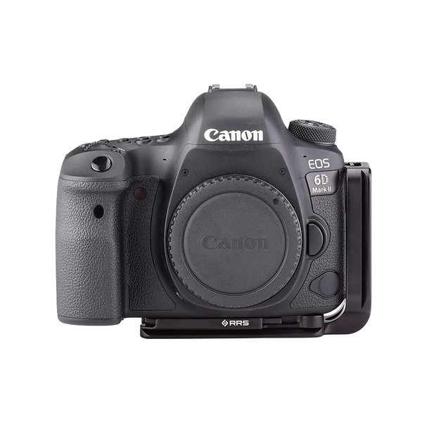 Plates for Canon EOS-6D Mark II including base plate, L-Component, no battery grip, viewed on camera