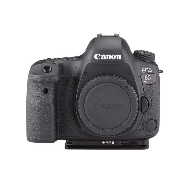 Plates for Canon EOS-6D Mark II including base plate, no L-Component, no battery grip, viewed on camera, front view