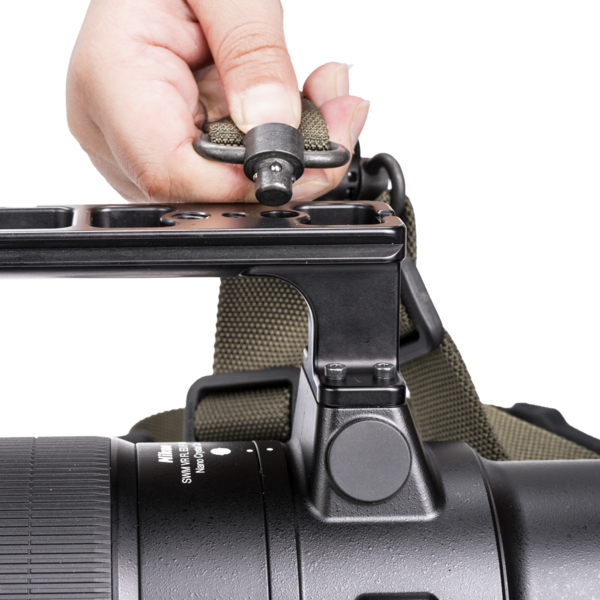 Magpul Gen 2 MS4 Dual QD Sling ranger green attaching to camera