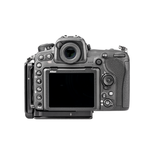 L-Plate set for Nikon D500 seen on camera back view