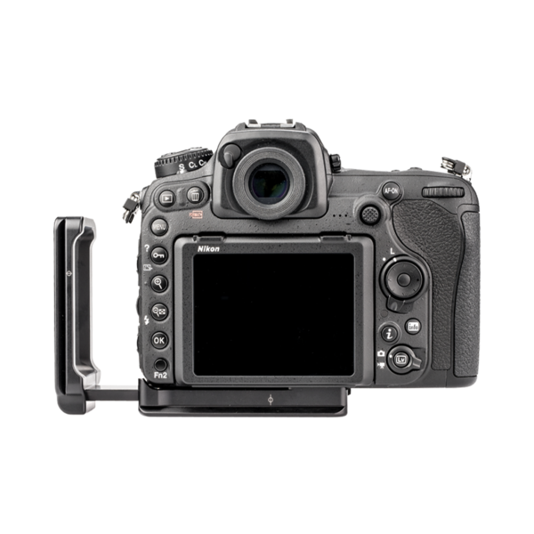 L-Plate set for Nikon D500 attached to camera back view