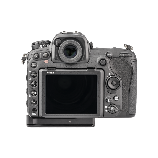 Plate for Nikon D500 back view seen on camera