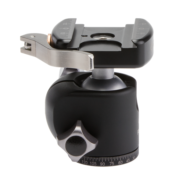 The T-lever on the BH-30 balhead locks down the ball solidly with all components either anodized aluminum or stainless steel for years of corrosion-free performance.