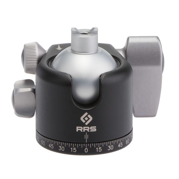 The BH-40 ballhead offers 45 degrees of tilt in all directions, and up to 90-degrees in the two drop-notches.