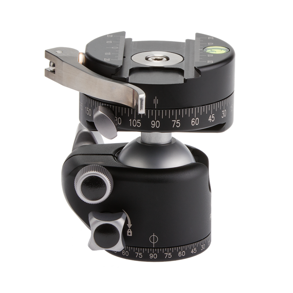 Laser-engraved millimeter scale offers precise centering and positioning within the clamp jaw.