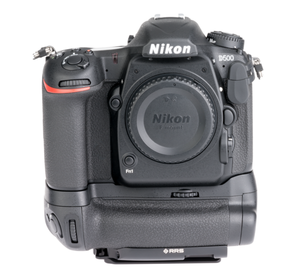 Plate for Nikon MB-D17 battery grip front view on camera