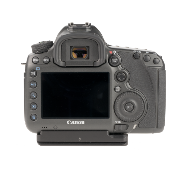 CANON CAMERA PLATES for EOS-5DS and 5DSR have a boss for accessory hand strap.