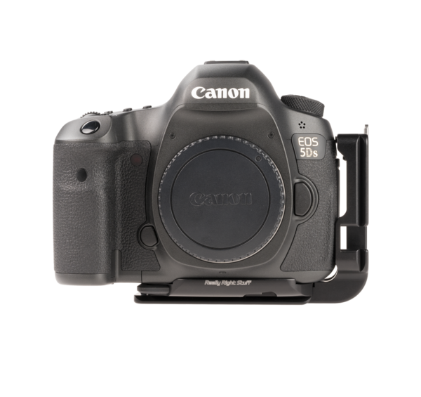 B5DS aluminum plate attached to Canon camera