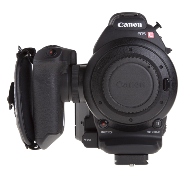 Plate for Canon C300/C100/C500 seen on camera front view