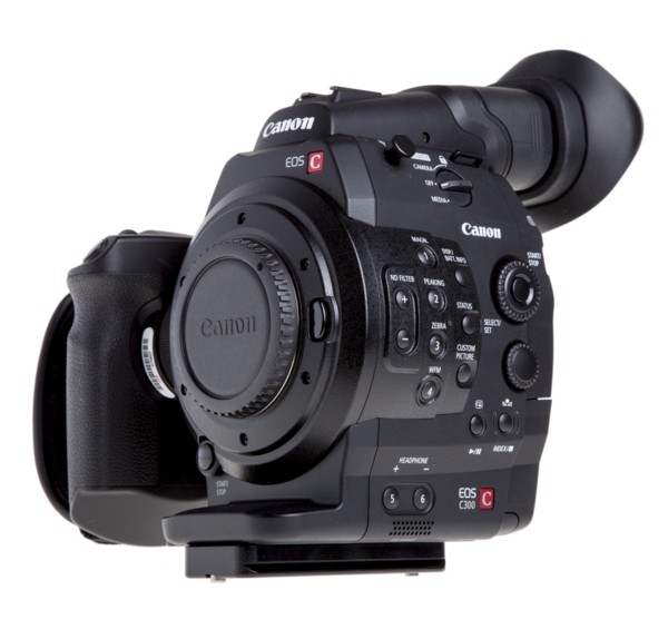 Plate for Canon C300/C100/C500 seen on camera