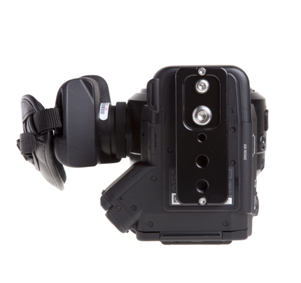 Plate for Canon C300/C100/C500 seen on camera bottom view