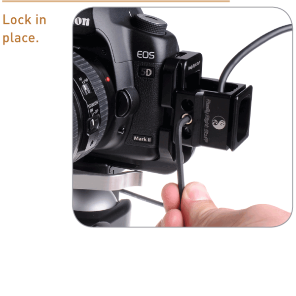 Cable relief spacer showing with camera and cables