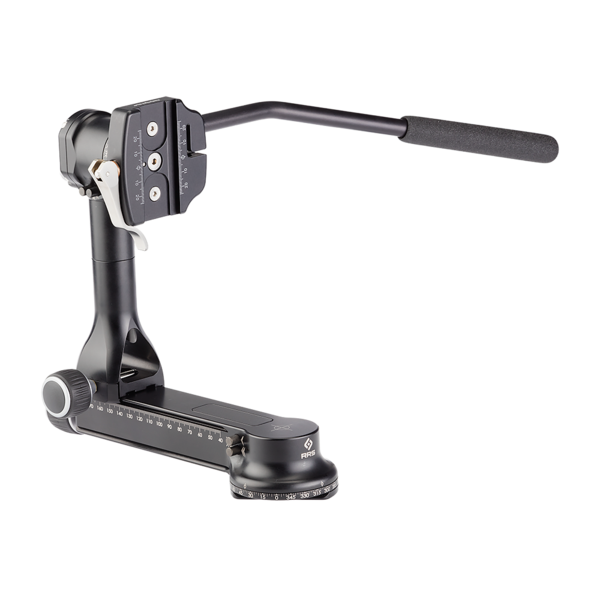 FG-02 Fluid-Gimbal Head and video-clamp with control arm