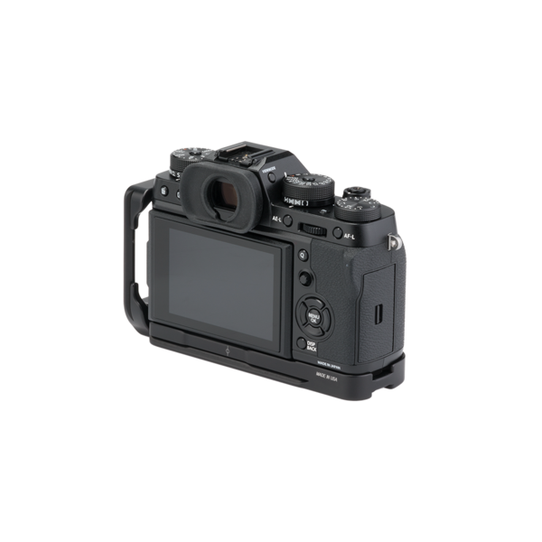 BXT2 Plates for Fuji X-T2 with L-component seen on camera back view