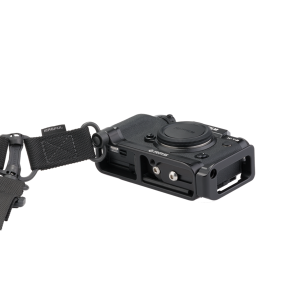 BXT2 Plates for Fuji X-T2 attached to camera with QD strap