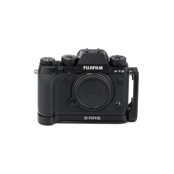 BXT2 Plates for Fuji X-T2 with L-component seen on camera front view