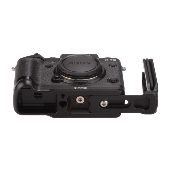 Fuji X-T3 with Really Right Stuff modular L-plate extended - bottom view