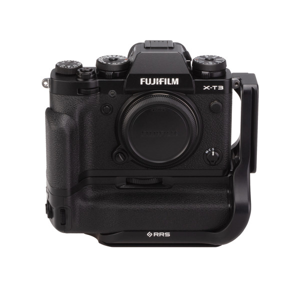 Fuji X-T3 Battery Grip with Really Right Stuff L-Plate - front view