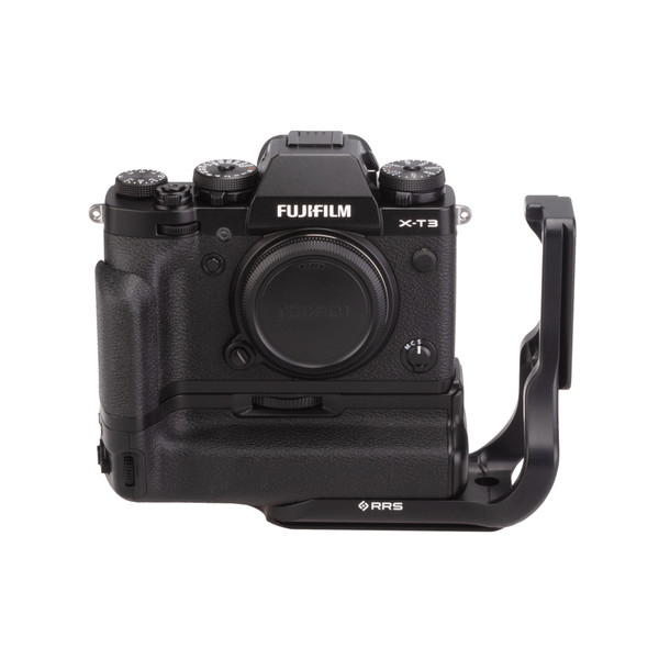 Fuji X-T3 Battery Grip with Really Right Stuff L-Plate Extended - front view