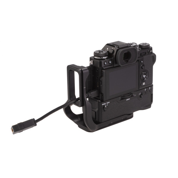 Fuji X-T3 Battery Grip with Really Right Stuff L-Plate Extended with cable ports