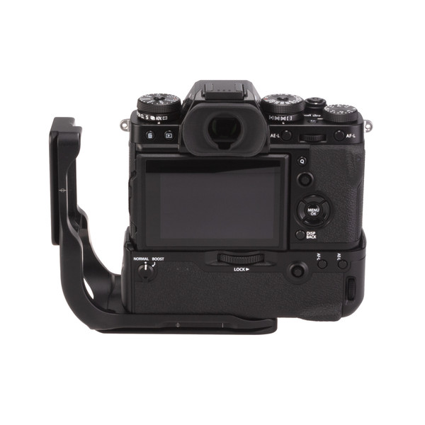 Fuji X-T3 Battery Grip with Really Right Stuff L-Plate Extended - back view