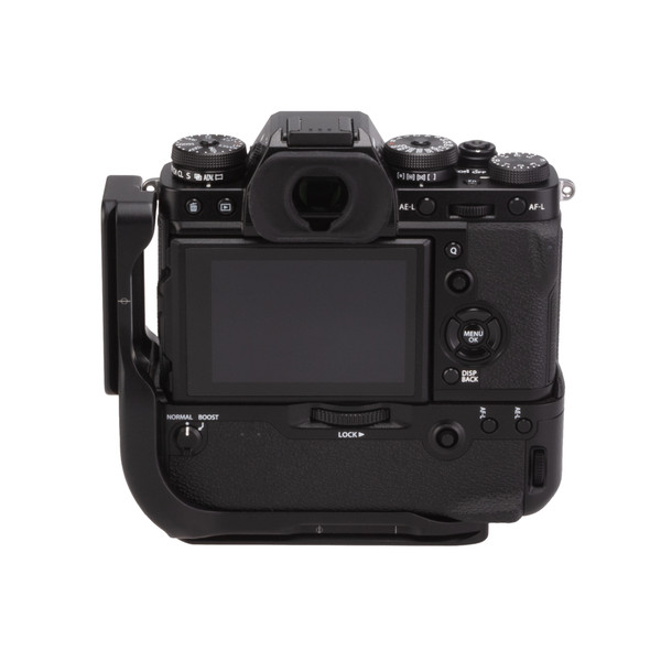 Fuji X-T3 Battery Grip with Really Right Stuff L-Plate - back view