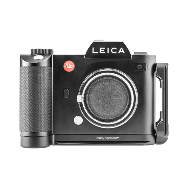 L-plate for Leica SL seen on camera front view