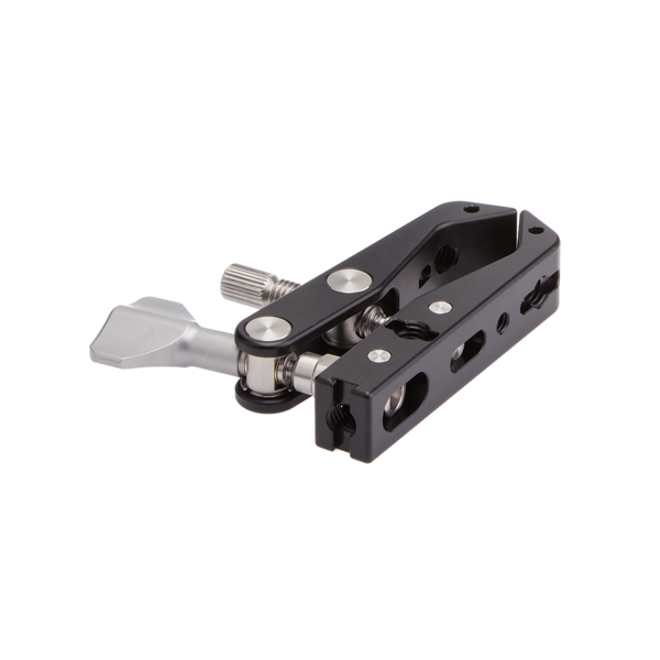 Multi-Clamp without any attachments or flat surface adapters rear angled view
