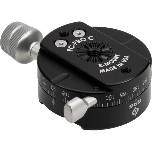 The PC-PRO features a built-in dovetail base, allowing you to mount it onto any Really Right Stuff ballhead clamp.