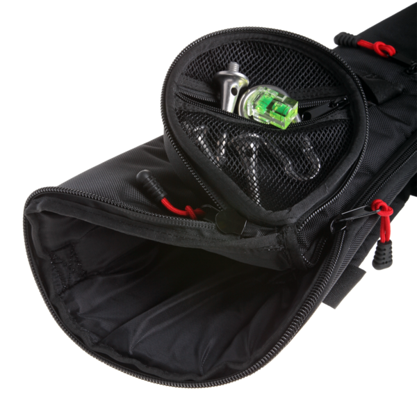 The TQB-80B Large tripod bag has a slim outside pocket handy for card storage, batteries and more.