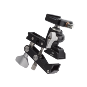 """Multi-Clamp with Flat Surface Adapters and BH-25 LR Ballhead. The BH‑25 LR ballhead can be mounted into any of the 3/8"""" sockets using the included 3/8"""" studs."""